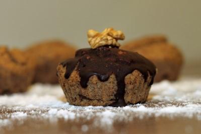 Mandlové muffiny s čokoládovou polevou