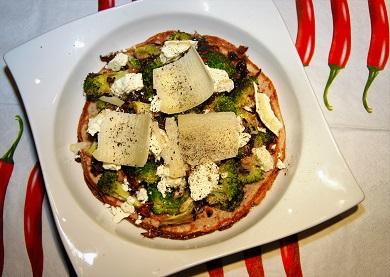Palačinka s brokolicí a sýrem
