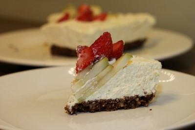 Zdravý meruňkový cheesecake